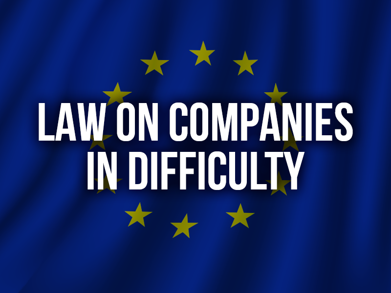 LAW ON COMPANIES IN DIFFICULTY
