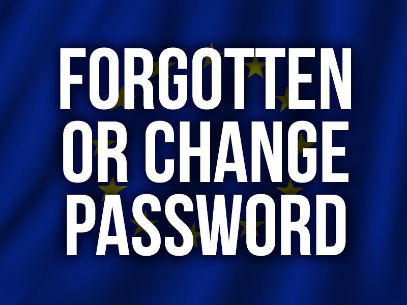 Forgotten or change password