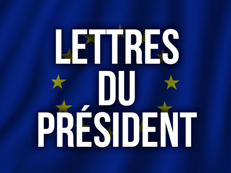 LETTRES DU PRÉSIDENT
