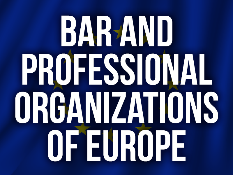 Bar professional organizations of europe
