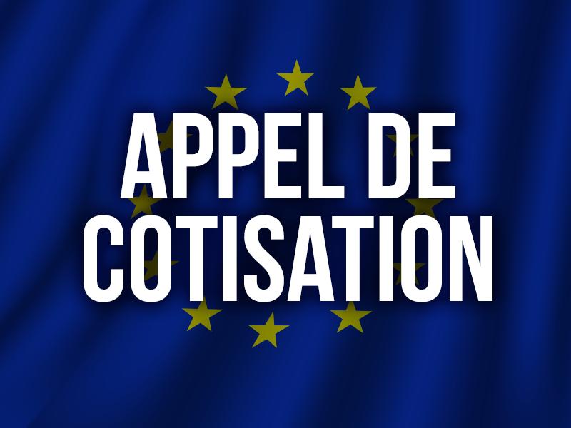 APPEL DE COTISATION