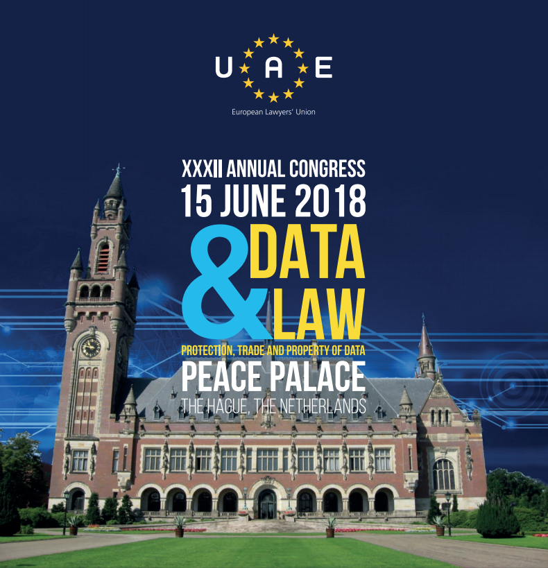 XXXII ANNUAL CONGRESS about DATA & LAW on 15th and 16th of June 2018