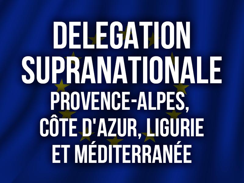 DELEGATION SUPRANATIONALE Provence, Alpes, Côte d'Azur, Ligurie et Méditerranée